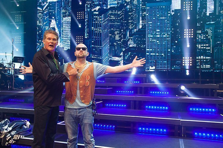 David Hasselhoff Tours Germany and Austria with Elation Lighting